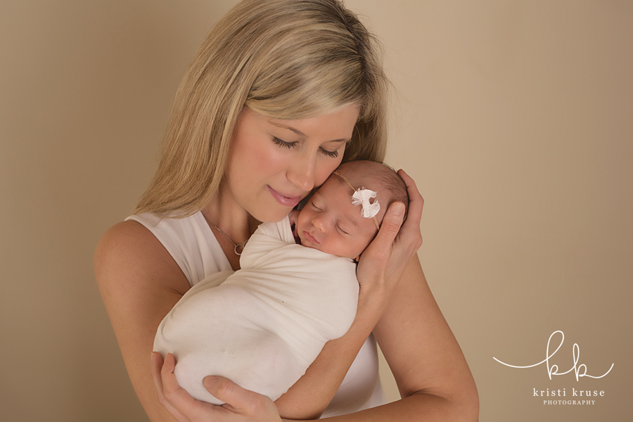 Mother and newborn serene photo