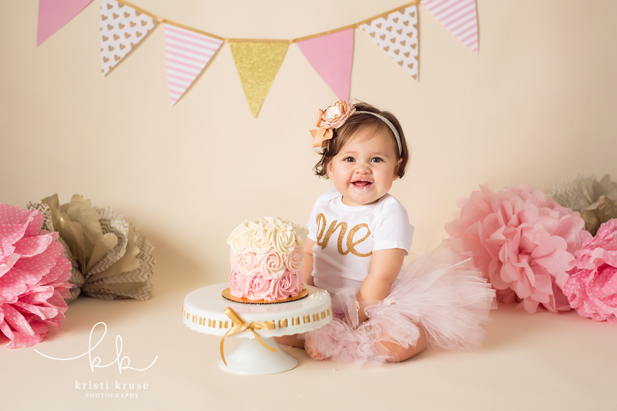 First birthday cake photo shoot