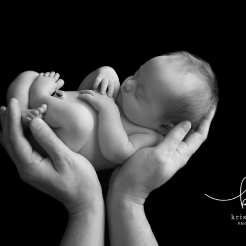 Posed newborn session in Raleigh